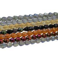 Kristall-Perlen, Kristall, bunte Farbe plattiert, facettierte, mehrere Farben vorhanden, 8x9mm, 72PCs/Strang, verkauft per ca. 25.59 ZollInch Strang