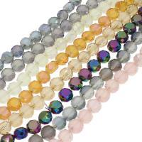 Kristall-Perlen, Kristall, bunte Farbe plattiert, facettierte, mehrere Farben vorhanden, 10x7mm, 72PCs/Strang, verkauft per ca. 26.37 ZollInch Strang