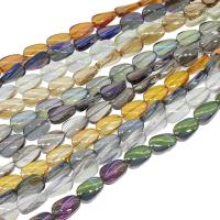Kristall-Perlen, Kristall, bunte Farbe plattiert, mehrere Farben vorhanden, 9x14x5mm, Länge:ca. 26.92 ZollInch, 50PCs/Menge, verkauft von Menge