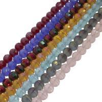 Runde Kristallperlen, Kristall, bunte Farbe plattiert, facettierte, mehrere Farben vorhanden, 10x10mm, Bohrung:ca. 1mm, 72PCs/Strang, verkauft per ca. 27.55 ZollInch Strang