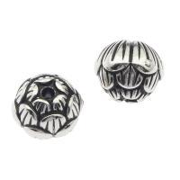 Acryl Schmuck Perlen, Blume, Silberfarbe, 11x10x11mm, Bohrung:ca. 1mm, ca. 790PCs/Tasche, verkauft von Tasche