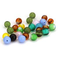 Handgewickelte Perlen, Lampwork, rund, gemischte Farben, 10mm, Bohrung:ca. 1mm, ca. 50PCs/Menge, verkauft von Menge