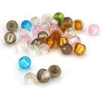 Silberfolie Lampwork Perlen, rund, gemischte Farben, 8mm, Bohrung:ca. 1.5mm, ca. 50PCs/Menge, verkauft von Menge