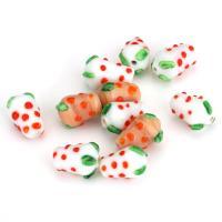 Holprige Lampwork Perlen, uneben, gemischte Farben, 10-12x14-16x10-12mm, Bohrung:ca. 2mm, ca. 50PCs/Menge, verkauft von Menge