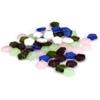 Handgewickelte Perlen, Lampwork, Stern, gemischte Farben, 10x9.50x3.50mm, Bohrung:ca. 1mm, ca. 50PCs/Menge, verkauft von Menge