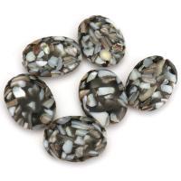 Handgewickelte Perlen, Lampwork, weiß und schwarz, 22x30x8mm, Bohrung:ca. 1.5mm, ca. 20PCs/Menge, verkauft von Menge