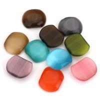 Handgewickelte Perlen, Lampwork, Doppelloch, gemischte Farben, 17x21x6.50mm, Bohrung:ca. 1.5mm, ca. 20PCs/Menge, verkauft von Menge