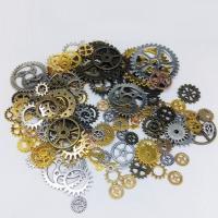 Verschiedene Komponente, Zinklegierung, ZahnradRad, plattiert, keine, frei von Nickel, Blei & Kadmium, 10-40mm, ca. 60-100PCs/Tasche, 2Taschen/Menge, verkauft von Tasche