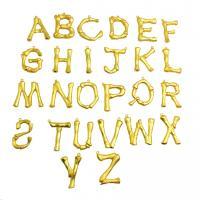 Zinklegierung Buchstaben Anhänger, verschiedene Stile für Wahl, Goldfarbe, frei von Nickel, Blei & Kadmium, 30mm, Bohrung:ca. 1mm, 2PCs/Menge, verkauft von Menge