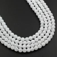Natürliche Crackle Achat Perlen, Flachen Achat, rund, verschiedene Größen vorhanden, zwei verschiedenfarbige, verkauft von Strang