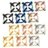 Edelstahl Brustpiercing Ring, 316 Edelstahl, plattiert, unisex, keine, 5MM*1.6, verkauft von Paar
