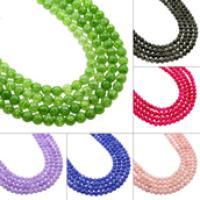 Natürliche Crackle Achat Perlen, Flachen Achat, rund, verschiedene Größen vorhanden, keine, verkauft von Strang