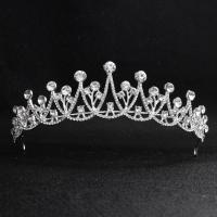 Krone, Zinklegierung, mit Kunststoff Perlen, Platinfarbe platiniert, verschiedene Stile für Wahl & für Frau & mit Strass, frei von Nickel, Blei & Kadmium, 160*40mm, verkauft von PC