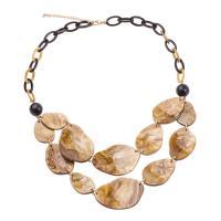 Acryl Halskette, mit Harz, mit Verlängerungskettchen von 70mm, Oval-Kette & für Frau, keine, 680mm, verkauft per ca. 26.7 ZollInch Strang