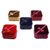 Baumwollsamt Armbandkasten, mit Karton & Nylon, Quadrat, plattiert, keine, 100*50mm, verkauft von PC