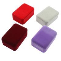 Baumwollsamt hängender Kasten, mit Karton, Rechteck, plattiert, keine, 70x100x40mm, verkauft von PC