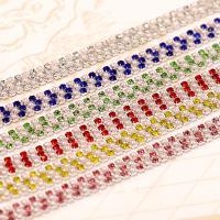 Kristall Eisen auf Nagelkopf, plattiert, mehrere Farben vorhanden, 2mm, verkauft von m