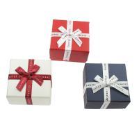 Karton Armbandkasten, mit Satinband, Quadrat, keine, 70*40mm, verkauft von PC