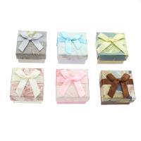 Karton Ringkasten, mit Satinband, Quadrat, keine, 50*30mm, verkauft von Tasche