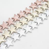 ABS-Kunststoff-Perlen, ABS Kunststoff, Stern, keine, 21x6mm, Bohrung:ca. 1mm, ca. 330PCs/Tasche, verkauft von Tasche
