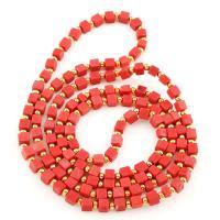 Volltonfarbe Acryl Perlen, rot, 12*6*4mm,6*3*2mm, 5StrangStrang/Tasche, verkauft von Tasche