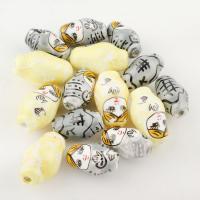 Gemischte Acrylperlen, Acryl, 21*13*12mm,25*5mm, Bohrung:ca. 2mm, 100PC/Tasche, verkauft von Tasche