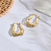 Messing Leverback Ohrring, für Frau & hohl, Goldfarbe, frei von Nickel, Blei & Kadmium, 22*18mm, verkauft von Paar