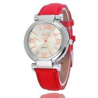 Damen Armbanduhr, PU Leder, mit Glas & Zinklegierung, plattiert, für Frau, keine, 240x18mm, verkauft von PC