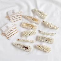 Gemischter Haarschmuck, Zinklegierung, mit Kunststoff Perlen, goldfarben plattiert, für Frau, frei von Nickel, Blei & Kadmium, 85mm,80mm,60mm, 85mm,70mm,65mm,75mm,6mm,85mm,80mm,75mm,75mm,75mm,80mm,70mm,75mm,70mm,80mm,60mm,70mm,60mm,80mm,50mm,50mm,50mm,40mm,85mm, verkauft von PC