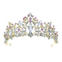 Krone, Zinklegierung, mit Kristall, plattiert, für Braut & mit Strass, keine, frei von Nickel, Blei & Kadmium, 300,70mm, verkauft von PC
