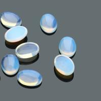 Opal Cabochon, verschiedene Größen vorhanden & flache Rückseite, 10PCs/Tasche, verkauft von Tasche