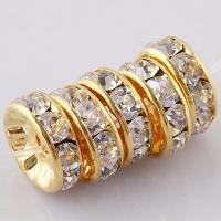 Strass Zinklegierung Perlen, mit Kristall & Strass, plattiert, DIY, keine, 8mm, 100PCs/Tasche, verkauft von Tasche