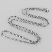 Halskette, Edelstahl, unterschiedliche Länge der Wahl & verschiedene Größen vorhanden & Kastenkette, originale Farbe, verkauft von Strang
