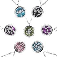 Zinklegierung Parfüm Medaillon Halskette, plattiert, verschiedene Stile für Wahl & für Frau & Emaille, keine, frei von Nickel, Blei & Kadmium, verkauft per 17 ZollInch Strang