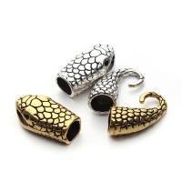 Zinklegierung Hakenverschluss, Schlange, keine, 13*40mm, Bohrung:ca. 7mm, 10SetsSatz/Tasche, verkauft von Tasche
