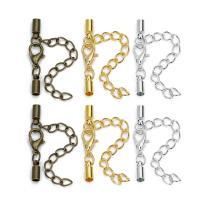 Messing Karabinerverschluss, keine, Bohrung:ca. 3mm, 20PCs/Tasche, verkauft von Tasche