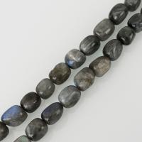 Labradorit Perlen, frei von Nickel, Blei & Kadmium, 10x14mm, Bohrung:ca. 1.5mm, ca. 32PCs/Strang, verkauft per ca. 16 ZollInch Strang