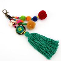 Plüsch Karabiner mit Schlüsselringen, mit Messing, plattiert, gefärbt & für Frau, farbenfroh, verkauft per ca. 7.4 ZollInch Strang