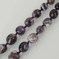 Natürliche Amethyst Perlen, violett, frei von Nickel, Blei & Kadmium, 16x18mm, Bohrung:ca. 1.5mm, ca. 23PCs/Strang, verkauft per ca. 16.5 ZollInch Strang