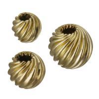 gold-gefüllt Perle, Weitere Größen für Wahl, Goldfarbe, frei von Nickel, Blei & Kadmium, ca. 30PCs/Menge, verkauft von Menge