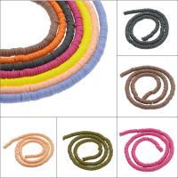 Polymer Ton Perlen , flache Runde, verschiedene Größen vorhanden, keine, 1-1.5mm, Bohrung:ca. 1mm, 10SträngeStrang/Tasche, ca. 250PCs/Strang, verkauft von Tasche