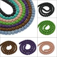 Polymer Ton Perlen , Zylinder, keine, 6x6mm, Bohrung:ca. 1mm, 10SträngeStrang/Tasche, ca. 60PCs/Strang, verkauft von Tasche