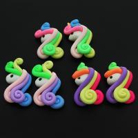 Polymer Ton Ohranhänger Zubehör, Pferd, keine, 25x42mm, ca. 100PCs/Tasche, verkauft von Tasche