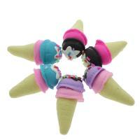 Polymer Ton Anhänger Zubehör, Eiscreme, keine, 14x36mm, ca. 100PCs/Tasche, verkauft von Tasche