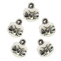 Zinklegierung Stiftöse Perlen, antik silberfarben plattiert, frei von Nickel, Blei & Kadmium, 9x11x11mm, Bohrung:ca. 2mm, ca. 580PCs/Tasche, verkauft von Tasche