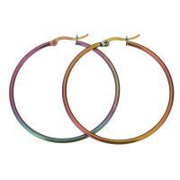 Edelstahl-Hebel zurück-Ohrring, Edelstahl, plattiert, für Frau, 45x47mm, verkauft von Paar