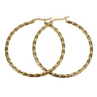 Edelstahl-Hebel zurück-Ohrring, Edelstahl, goldfarben plattiert, für Frau, 44x47mm, verkauft von Paar
