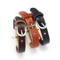 Kunstleder Armband, mit Zinklegierung, Kreuz, plattiert, für den Menschen, keine, 255x12mm, verkauft von PC