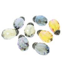 Kristall-Perlen, Kristall, plattiert, mit Strass, 18x29x18mm, Bohrung:ca. 1.5mm, 5/Tasche, verkauft von Tasche