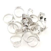 Zinklegierung Ringschiene, Silberfarbe, 20x19x2mm, Innendurchmesser:ca. 19mm, ca. 400PC/Tasche, verkauft von Tasche